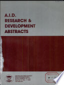 A.I.D. Research and Development Abstracts