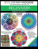 Color My Moods Coloring Books for Adults  Mandalas Day and Night for Beginners   Double Size