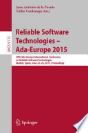 Reliable Software Technologies Ada Europe 2015 Book PDF