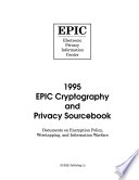 Cryptography And Privacy Sourcebook 1995