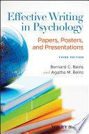 Effective Writing in Psychology Book