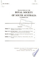 Transactions of the Royal Society of South Australia, Incorporated