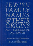 Jewish Family Names and Their Origins