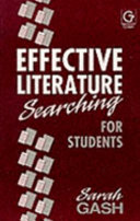 Effective Literature Searching For Students
