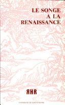 Le songe à la Renaissance