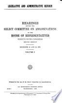 Legislative and administrative reform