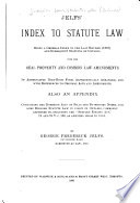 Jelfs Index To Statute Law Book PDF