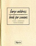 Large Address Book for Seniors Book PDF
