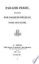 Paradis perdu  traduit par Jacques Delille