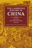 The Cambridge History of China  Volume 2  The Six Dynasties  220 589 Book