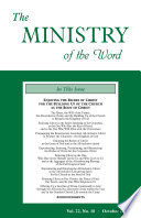 The Ministry Of The Word Vol 22 No 10