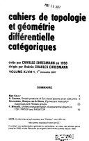 Cahiers de Topologie Et G  om  trie Diff  rentielle Cat  goriques