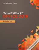 Shelly Cashman Series Microsoft Office 365   Office 2016  Advanced