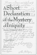 A Short Declaration of the Mystery of Iniquity (1611/1612) Pdf/ePub eBook