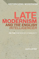Pdf Late Modernism and The English Intelligencer Telecharger