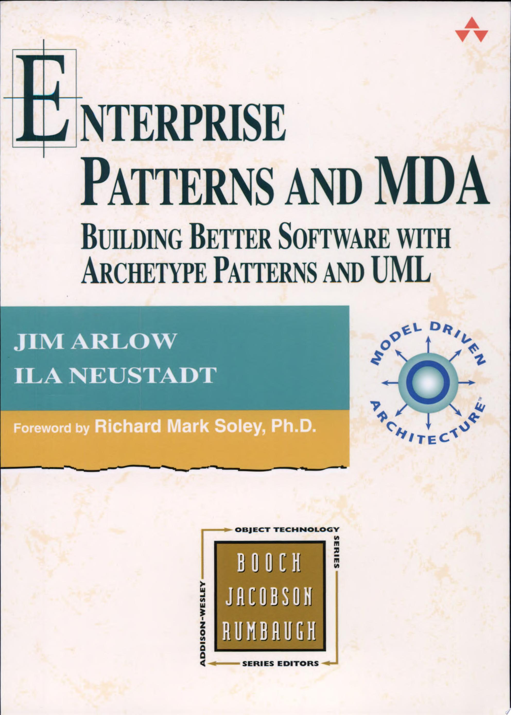 Enterprise Patterns and MDA
