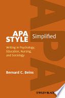 Apa Style Simplified Book PDF