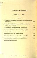Cistercian Studies