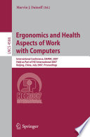 Ergonomics And Health Aspects Of Work With Computers Book PDF