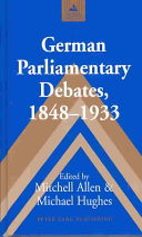 German Parliamentary Debates 1848 1933