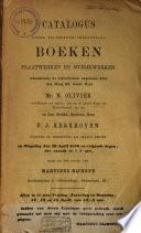 Veilingcatalogus Boeken Van N Olivier Et Al 26 Tot 30 April 1870
