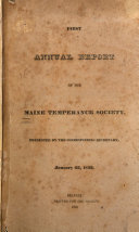 Annual Report of the Maine Temperance Society