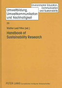 Handbook of Sustainability Research