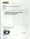 Combined Heat and Power Market Assessment Book