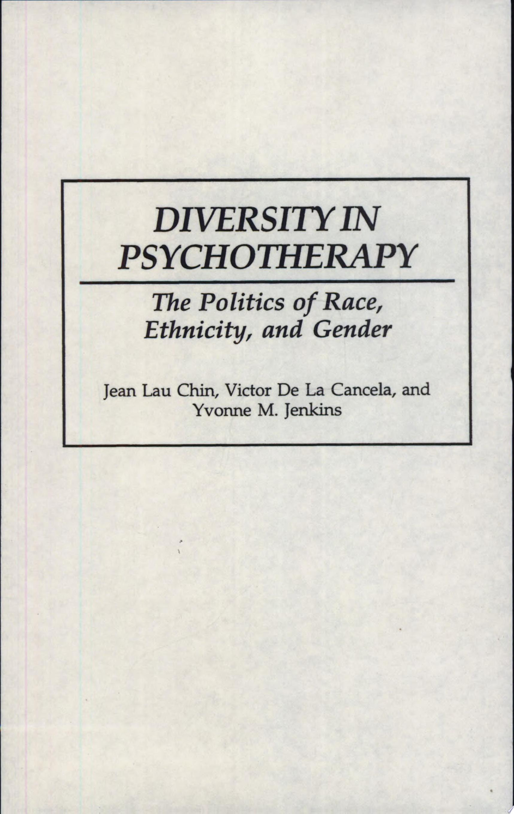 Diversity in Psychotherapy