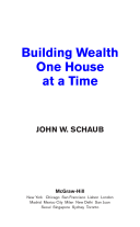 building wealth one house at a time making it big on little deals schaub john
