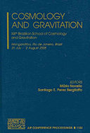 Cosmology and Gravitation Book