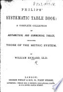 Philips Systematic Table Book A Complete Collection Of Arithmetical And Commercial Tables By W Rickard