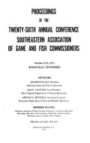 Proceedings of the Annual Conference  Southeastern Association of Game and Fish Commissioners