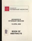 The Ohio State University College of Veterinary Medicine Advances in Veterinary Medicine