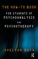 The How-To Book for Students of Psychoanalysis and Psychotherapy [Pdf/ePub] eBook