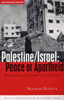 Palestine/Israel: Peace Or Apartheid