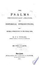 The Psalms Chronologically Arranged
