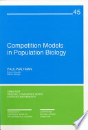 Competition Models in Population Biology Book