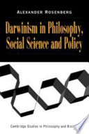 Darwinism in Philosophy, Social Science and Policy