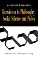 Darwinism in Philosophy  Social Science and Policy