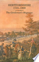 Hertfordshire 1731 1800 as Recorded in the Gentleman s Magazine Book