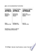 Fachkatalog Afrika: Pt. 3. Westafrika III