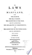 The Laws Of Maryland 1801 1809 Index