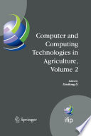 Computer and Computing Technologies in Agriculture  Volume II
