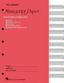 Standard Loose Leaf Manuscript Paper  Pink Cover