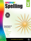 Spectrum Spelling, Grade 3 Pdf/ePub eBook