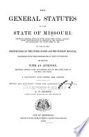 The General Statutes Of The State Of Missouri