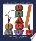 Handbook of Personality at Work Book