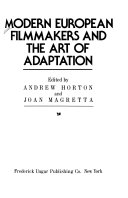 Modern European Filmmakers and the Art of Adaptation