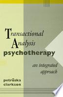 Transactional Analysis Psychotherapy Book PDF